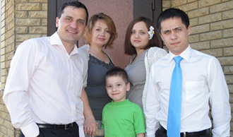 Alexander Marchenko with his family